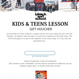 kids and teens surf voucher