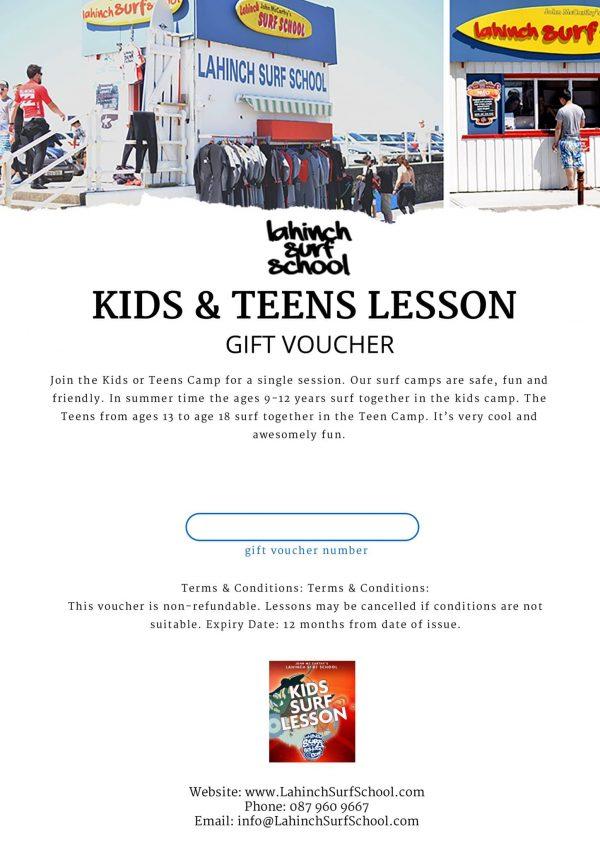 kids and teens surf voucher