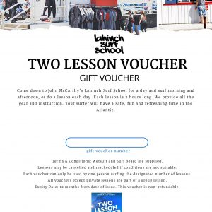two lesson voucher