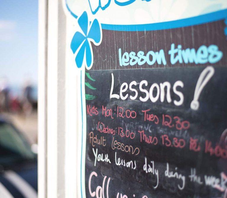 lesson-times-board